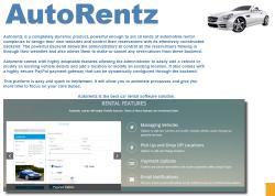Pagematics Autorentz rental features