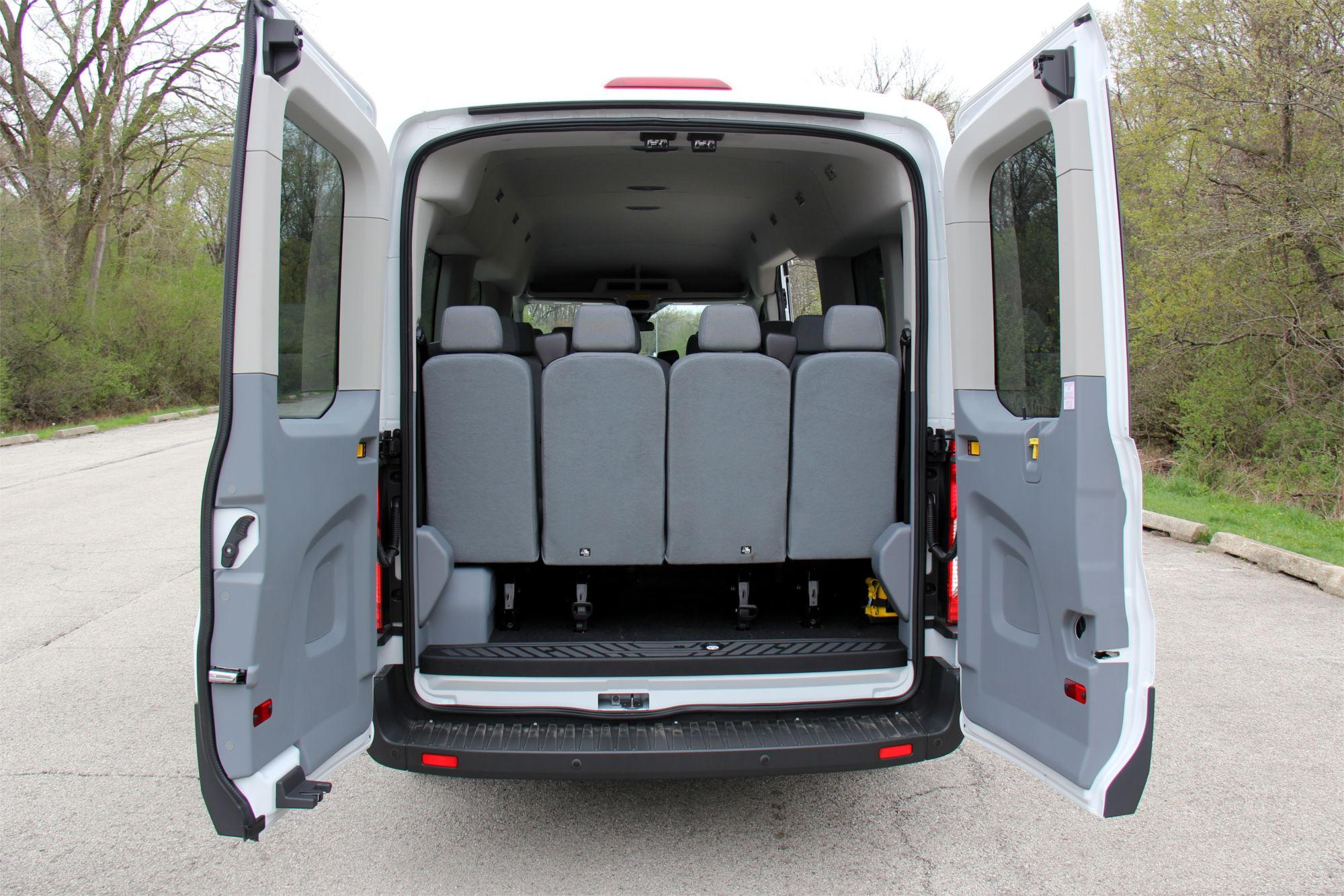 2 Ford Transit XL Medium Roof 15 P White With Tv A1 Rental Vans