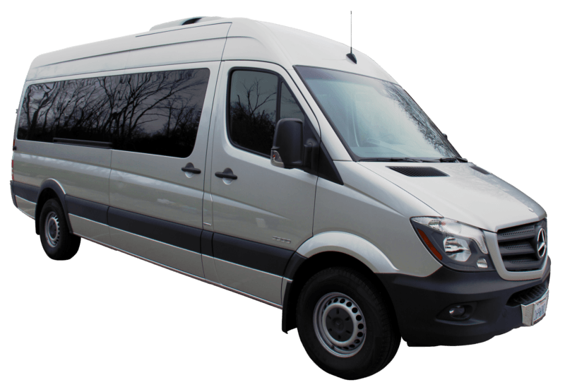 A1 Rental Vans - 1. Mercedes Benz Sprinter 15 P Silver With Tv
