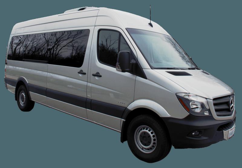 A1 Rental Vans   1. Mercedes Benz Sprinter 15 P Silver With Tv