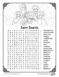 Saints word search