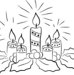 Advent Coloring Page - Advent Candles