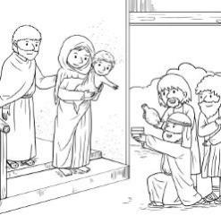 Advent Coloring Page - Advent Wise Men with Holy Family