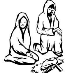 Advent Coloring Page - Advent Nativity