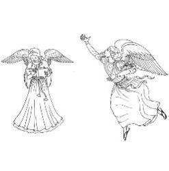 Advent Coloring Page - Advent Angel 3