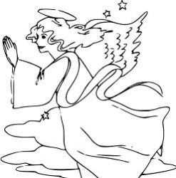 Advent Coloring Page - Advent Angel