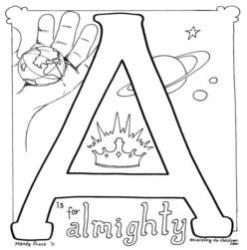 Coloring Page-A-Almighty