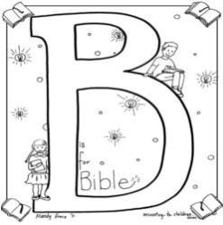 Coloring Page-B-Bible