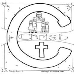 Coloring Page-C-Christ