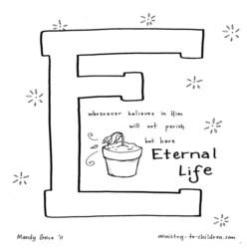 Coloring Page-E-Eternal Life