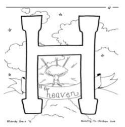 Coloring Page-H-Heaven