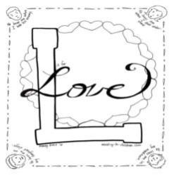 Coloring Page-L-Love
