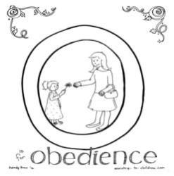 Coloring Page-O-Obedience-girl