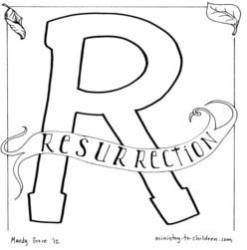 Coloring Page-R-Resurrectiont