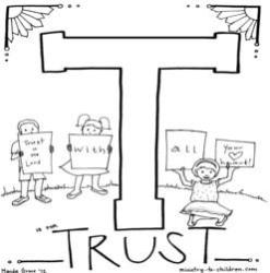 Coloring Page-T-Trust
