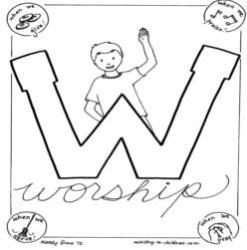 Coloring Page-W-Worship