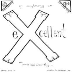 Coloring Page-X-eXcellent