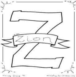 Coloring Page-Z- Zion
