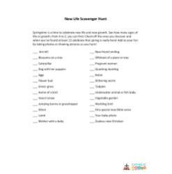 New Life Scavenger Hunt