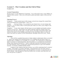 The Creation and the Fall of Man - Lesson Plan - Grades 6-8