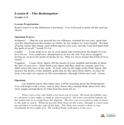 The Redemption - Lesson Plan - Grades 3-5