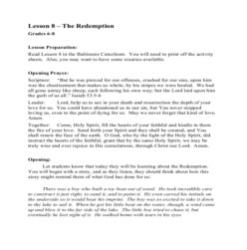 The Redemption - Lesson Plan - Grades 6-8