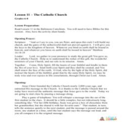 The Catholic Church - Lesson plan - Grades 6-8