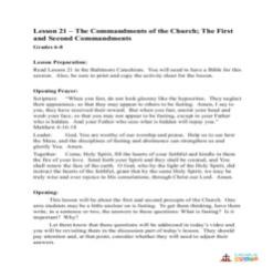 The 1st and 2nd Commandments of the Church - Lesson Plan  - Grades 6-8