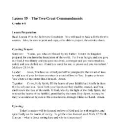 The Two Great Commandments - Lesson Plan - Grades 6-8