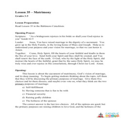Matrimony - Lesson Plan - Grades 3-5