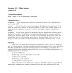 Matrimony - Lesson Plan - Grades 6-8
