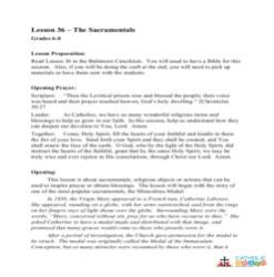 The Sacramentals - Lesson Plan - Grades 6-8