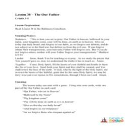 The Our Father - Lesson Plan - Grades 3-5