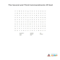 The Second and Third Commandments of God - Word Search