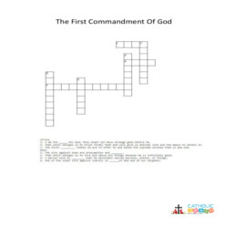 The First Commandment of God - Cross Word