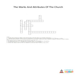The Marks and Attributes of the Church - Cross Word