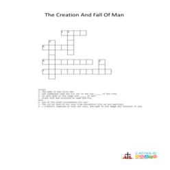 The Creation and the Fall of Man - Cross Word
