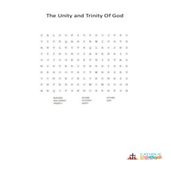 The Unity and Trinity of God - Word Search