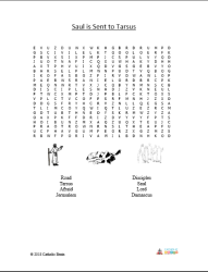 Saul is Sent to Tarsus - Word Search
