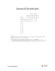 Descent of the Holy Spirit - Crossword