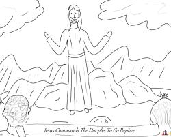 Jesus Commands the Disciples to Baptize