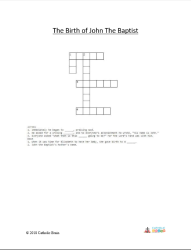 The Birth of John the Baptist - Crossword