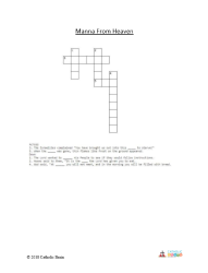 Manna from Heaven - Crossword