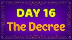 Brother Francis - Advent Day 16 - The Decree