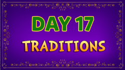 Brother Francis - Advent Day 17 - Traditions