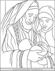 Zechariah, John, and Elizabeth