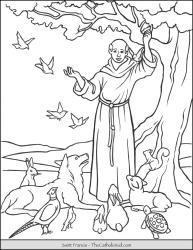Saint Francis Blessing Animals